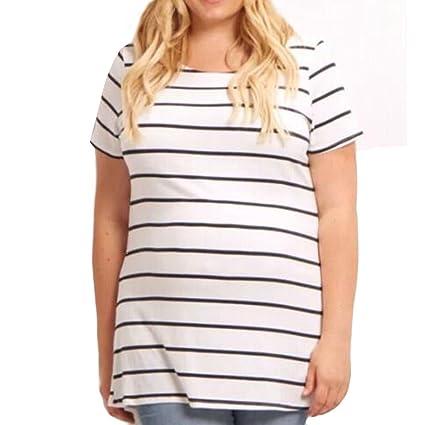 e0da725a3e765 Xlala T Shirt for Women Pregnant Maternity Short Sleeve Nurse Pregnant Tops  Cartoon Print Design Custom