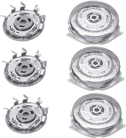 Universal Cabezales De Afeitado,Shaving Heads, Cuchillas De Repuesto para Cabezal, Repuesto del Cabezal Tres para Philips Series 5000 Shaver SH50 / 51/52 HQ8: Amazon ...