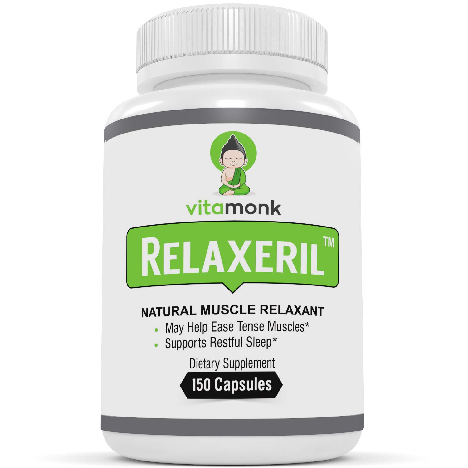 RELAXERIL - #1 Most Trusted Muscle Relaxers By VitaMonk - Support Sore Muscles And Muscle Spasms With This Muscle Relaxer Supplement- No artificial fillers