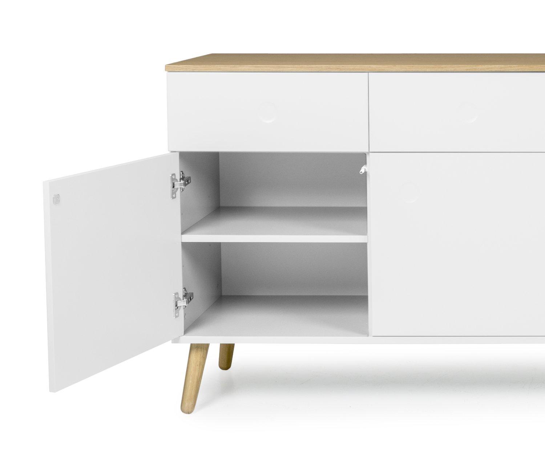 tenzo 1678 454 dot designer sideboard holz 43 x 192 x 86 cm amazon de kuche haushalt