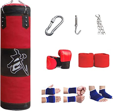 Sacs Size : 60cm Sac De Formation avec des Cha/înes for des Adolescents Et des Adultes HATHOR-23 Poin/çon Lourd De Boxe Sac De Frappe for La Formation De Boxe