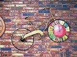 Jingzou Retro, clock, bicycle, wall clock, restaurant, ornament, decoration