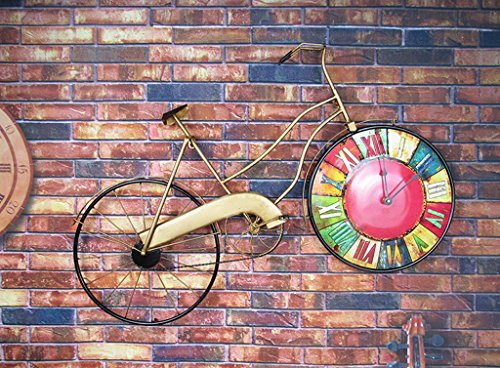 Jingzou Retro, clock, bicycle, wall clock, restaurant, ornament, decoration by Jingzou