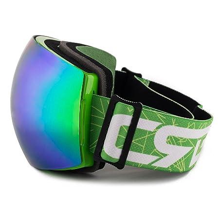 Nouveau design de ski snowboard double lentille anti-buée Lunettes de sport unisexe patinage motoneige Lunettes de masque de ski, doré