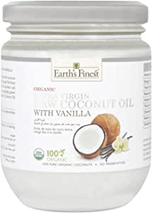 Earth`s Finest Organic Extra Virgin Coconut Oil with Vanilla - 200 ml