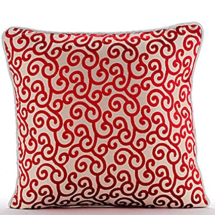 Amazon Cayenne Red Decorative Pillows Cover Contemporary Extraordinary Red Decorative Pillows For Couch