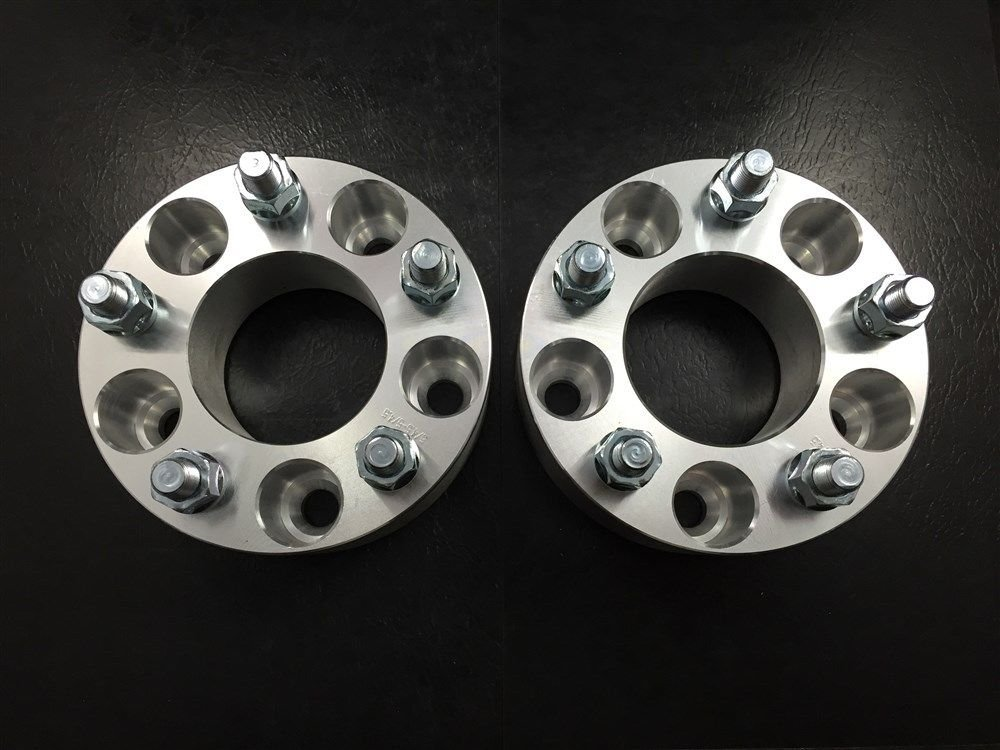 4pc 25mm 1'' Inch Wheel Spacers Adapters ¦ 5x5.5 (5X139.7) To 5x5 (5X127) 1/2 RH