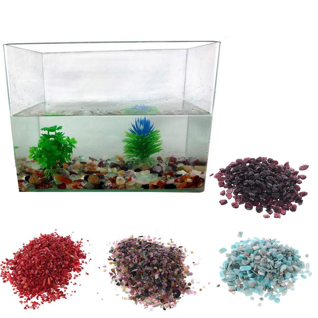 1bag Natural Stone Pebble Crystal Gravel Flowerpot Fish Tank Aquarium Diy Decor Pet Supplies