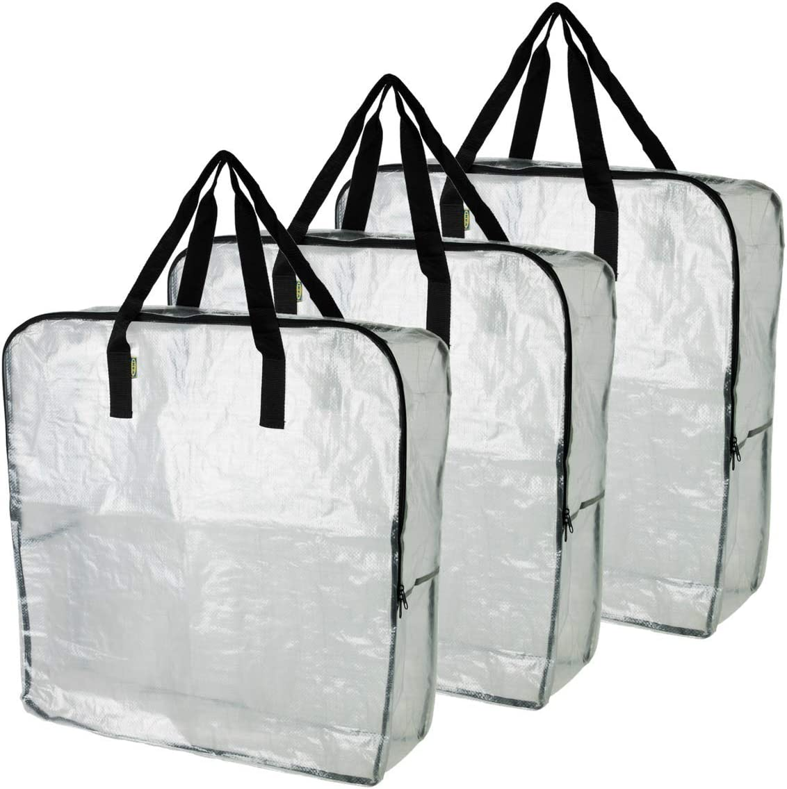Ikea Dimpa 3 Pcs Extra Large Storage Bag Clear Heavy Duty Bags Moth Moisture Protection Storage Bags Home Kitchen