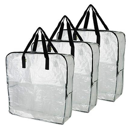 IKEA DIMPA 3 Bolsas de Almacenamiento extragrandes, Bolsas ...
