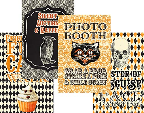 Halloween Carnival Themed Party Supply Supplies Poster Signs Decor Games Crafts Haunted House (Activity) -