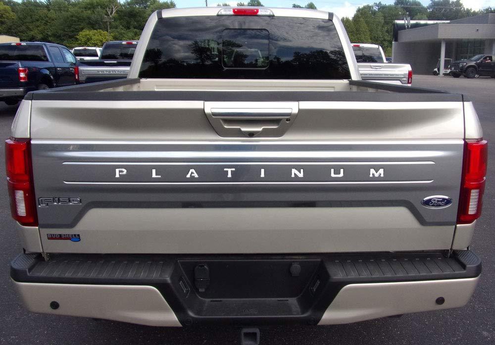 BDTrims Tailgate Plastic Letters Inserts fits 2018-2020 F-150 Platinum Models Black