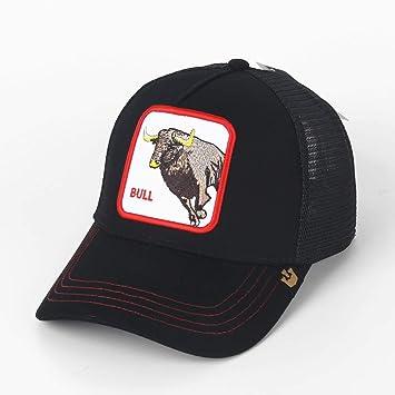 QQYZ Animal De Ganado Bordado Gorra De Béisbol Sombrero De Red De ...