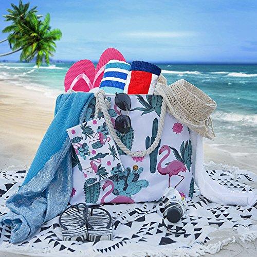 Per Diealles Ragazza Grande Cerniera Borsa E Da In Spiaggia Tela Donna Con aS8Fqaw