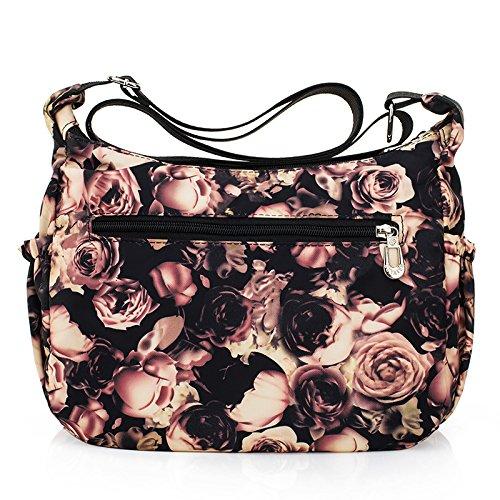 Flowers Mgyh Bags Women Crossbody Printing Shoulder Bags Handbag Nylon Waterproof Messenger PqREwv