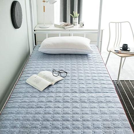 Sl Cl Students Dorm Mattress 0 9 M Single Bed 1 2 M Removable And Washable Thickening Bedroom Mattress Floor Mat Amazon De Kuche Haushalt