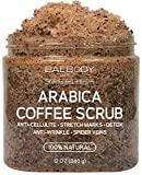 Baebody Arabica Coffee Scrub: Reduce Look of Cellulite, Stretch Marks, Wrinkles. With Dead Sea Salt, Olive Oil, and Shea Butter. Natural Exfoliator, Moisturizer Promoting Radiant Skin 12oz