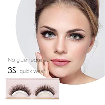 3cd19ddb74a 2 pairs Self-Adhesive Eyelashes Pack - 3D False Eyelashes Non-Irritating  Lashes Strips