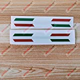italian flag stripe tape - 3S MOTORLINE 2pair X Glossy 6'' Italy Italian Flag Stripes Decal Stiker Italia b Car Vinyl