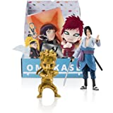 Naruto Shippuden Exclusive Omakase Box featuring Naruto Mininja Gold Figurine, Sasuke Figure, Gaara Plush, Allied Shinobi Forces Headband Sticker, Naruto and Hinata Poster and SD Deidara Keychain