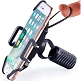 Bike & Motorcycle Phone Mount - for iPhone 11 (Xs, Xr, 8, Plus/Max), Galaxy S20 or Any Cell Phone - Universal Handlebar…