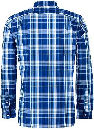 Lacoste Camisa Cuadros CH1576 Azul Hombre 44 166: Amazon.es: Ropa y accesorios