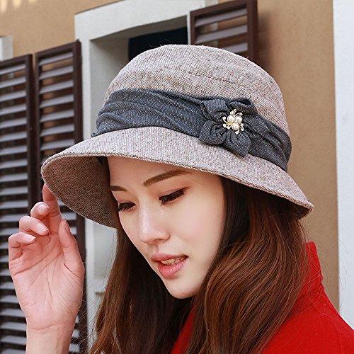 6a0af2c979d A female fashion hat hat four basin Hat Beanie Hat Cap 54-58cm elderly  mother