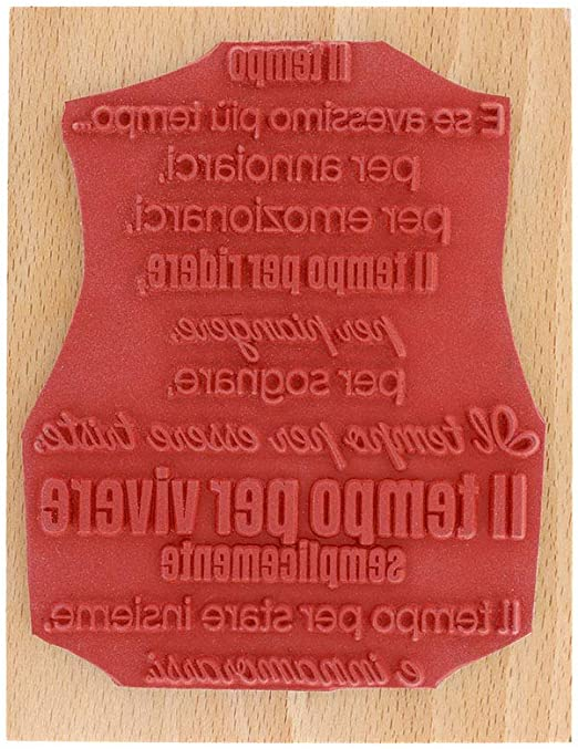 Colore Legno Floril/èges Design Timbro 10x13 cm