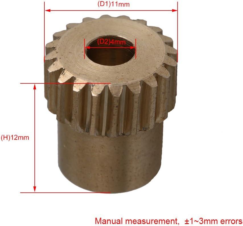 Messing 0.5 Modul 20 Z?hne Z?hne Schneckenrad Schnecken Zahnrad f/¨/¹r Getriebe Welle Bremse Fahren