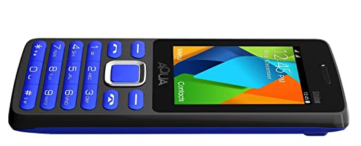 95cb26a06e5 Aqua Shine - 2100 mAh Battery - Dual SIM Basic Mobile Phone - Blue  Amazon. in  Electronics