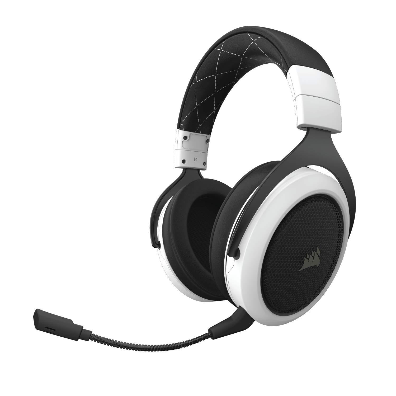 CORSAIR HS70 Wireless - 7.1 Surround Sound Gaming Headset - Discord Certified Headphones - White by Corsair