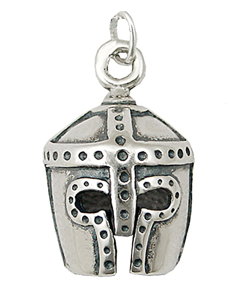 A Great Helm Pendant for the Knight In Shinning Amour...Sterling Silver
