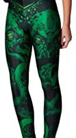 Jescakoo Women's Digital Print Stretchy Ankle Leggings Tights