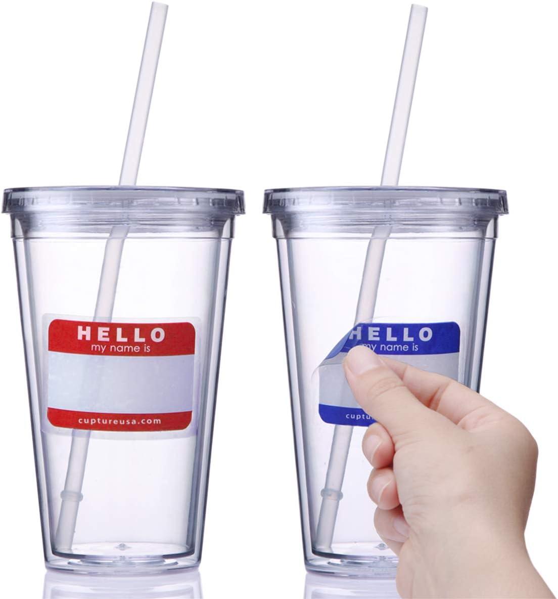 Reusable Travel Coffee Cup Mug Lid 16 Oz Tumbler Perfect Purple Acrylic Bpa