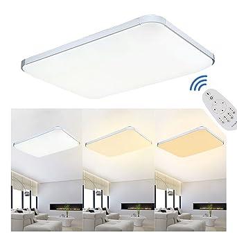 MCTECH 48W Dimmbar Deckenleuchte Modern Deckenlampe Flur Wohnzimmer Lampe  Schlafzimmer (48W Dimmbar)