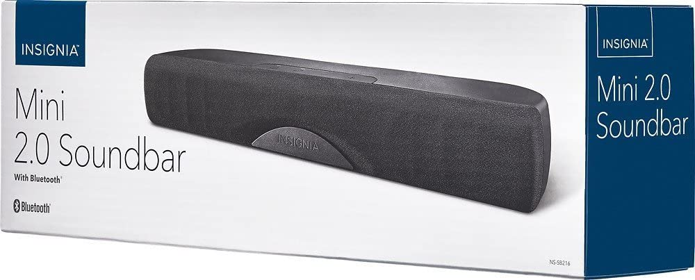 2.0 Channel Bluetooth Mini Soundbar ONLY ! INSIGNIA NS-SB216