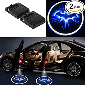Universal Car Door Logo Projector Logo Lights for T0 Y0TA 2pcs Battery Powered Wireless Car Door Lights Logo Projector for T0 Y0TA