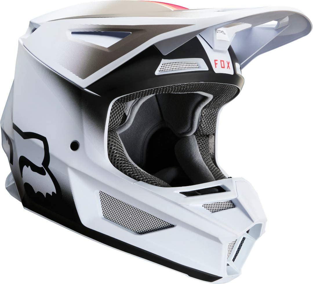FOX V2 Vlar Motocross Helm Rot//Wei/ß XS