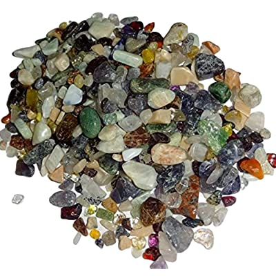 ( Sublime Gifts ) Mixed Assorted Colors Chips Premium Small Tumbled & Polished Gemstone Crystal Healing Chips: Toys & Games