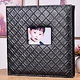 LANNA SHOP- Creative Photo Album, Wedding Anniversary Memo Album, For 600 Photos With A Size Of 6x4/10.2x15.2cm(4D) ( Color : Black )