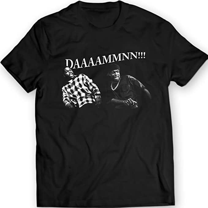 6234621ca Amazon.com: DDAAMMNN!! Funny Damn T Shirt Friday Movie Smokey and ...
