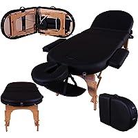 Table de massage pro luxe - Massage Imperial - Portable Monarch - Plateau 3 Pièces - Panneaux Reiki - Légère/Mousse 7cm - Couleur : Noir