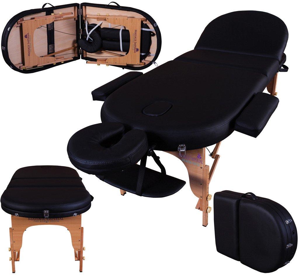 Panneaux Reiki Table de massage pro luxe Couleur : Noir Massage Imperial Portable Monarch L/ég/ère//Mousse 7cm Plateau 3 Pi/èces