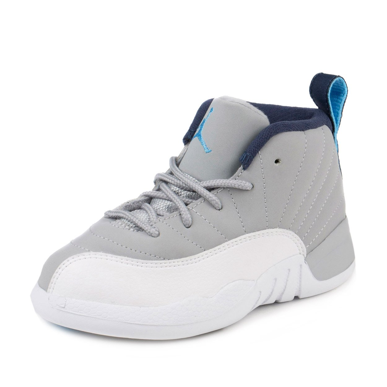 Nike Baby Boys Jordan 12 Retro BT ''Wolf Grey'' Wolf Grey/University Blue Leather Size 8C by NIKE