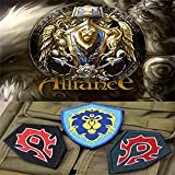 world of warcraft patch - J&C Family Owned World of Warcraft Alliance Horde (3-Pack Assorted) Velcro Tactical Gear 3D Embroiderery Applique Badge Patch/Appliquees