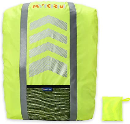 Reflective Waterproof Cycling Running Backpack Bag Rucksack Rain Cover Outdoor