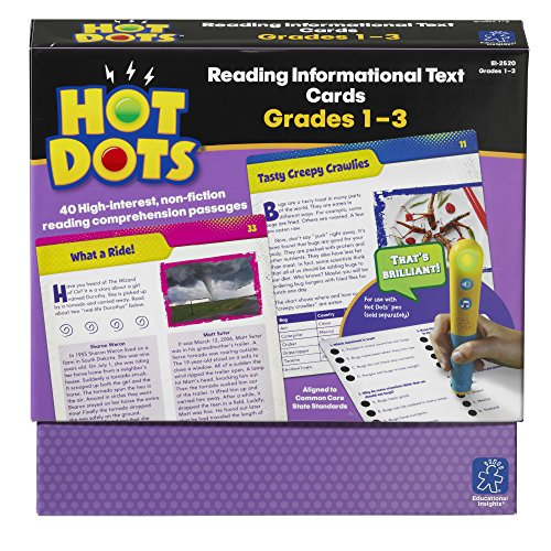 Educational Insights Hot Dots Reading Informational Text—Grades 1-3