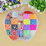 THE SAFETY ZONEY Refill Pack Colorful Loom Kit, 18 Colors,8 Packs S-clips, 40 Colorful Beads, 1 Big Hook,6 Small Hook,6 Silicon Charms,20 Lovely Charms,1 Monster Tailloom Board, 2 Y-shape Looms