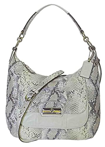 bf384eab3637 Image Unavailable. Image not available for. Color  Coach Kristen Embossed  Python Hobo Shoulder Bag ...