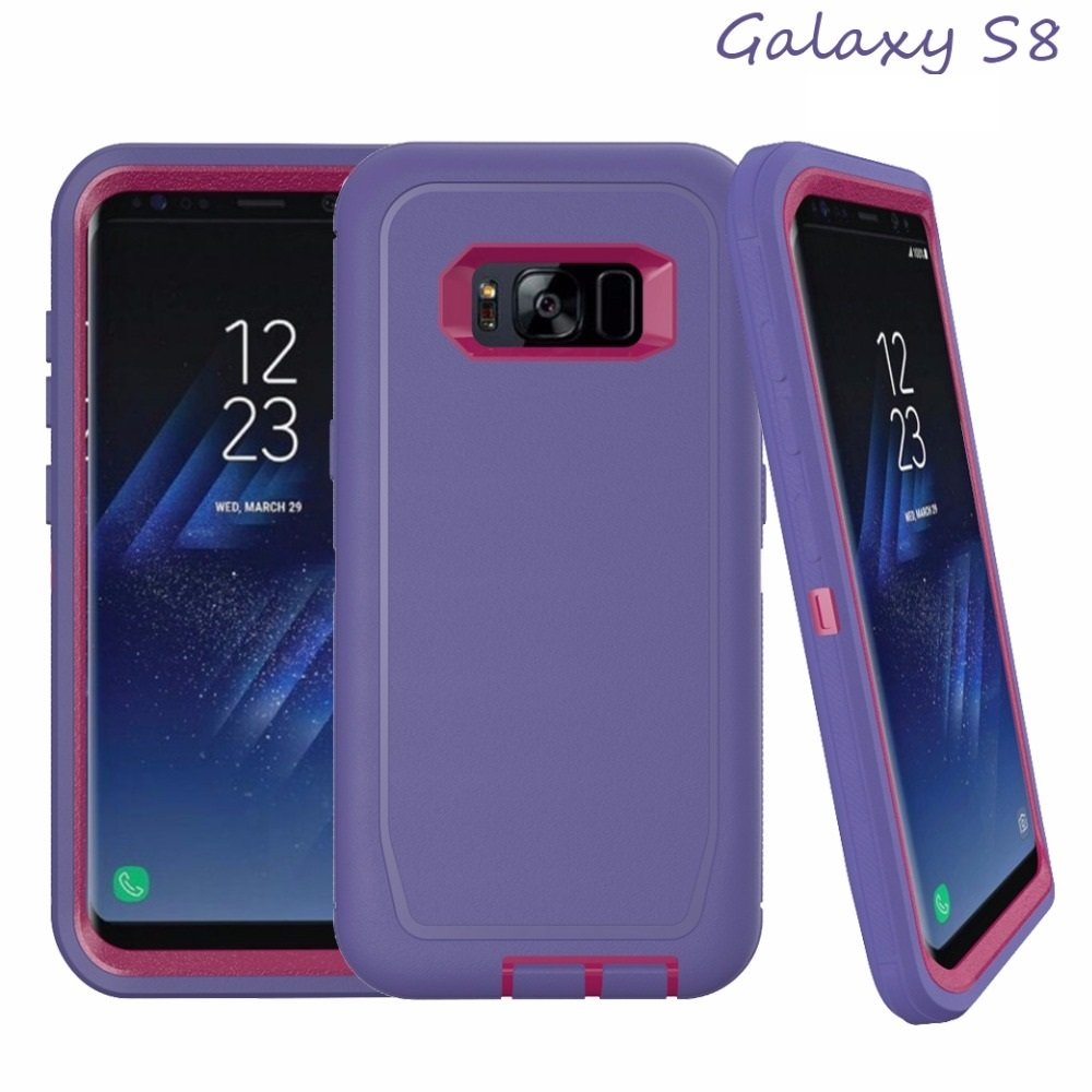 TekForce DEFENDER Professional Case for Samsung Galaxy S8 - Stylish and Rugged Worry-Free Case (PURPLE)